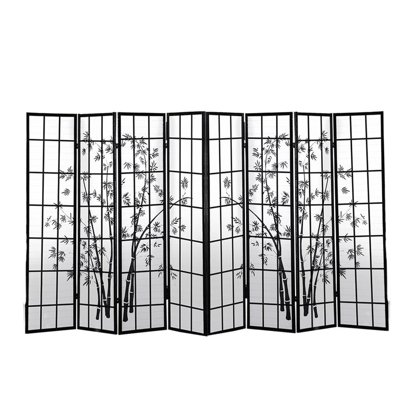 Levede 8 Panel Free Standing Foldable  Room Divider Privacy Screen Bamboo Print