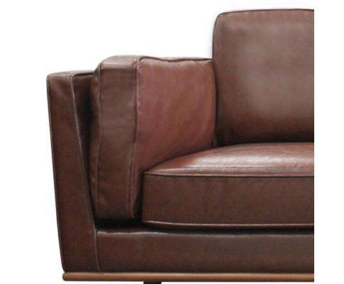 Melbournians Furniture Leatherette Brown York Sofa 2 Seater