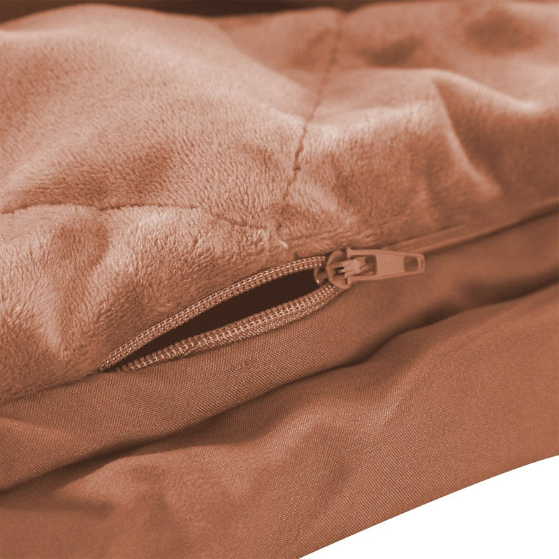 5KG Anti Anxiety Weighted Blanket Gravity Blankets Dusty Pink Colour