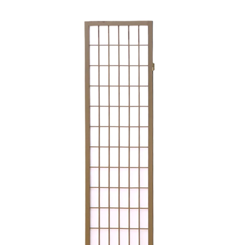 Levede 6 Panel Room Divider Screen Door Stand Privacy Fringe Wood Fold Grey