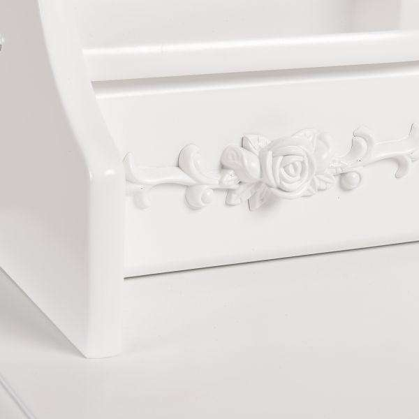 DRESSING TABLE JEWELLERY ORGANISER MIRROR MAKEUP DRAWER BEDROOM FURNITURE
