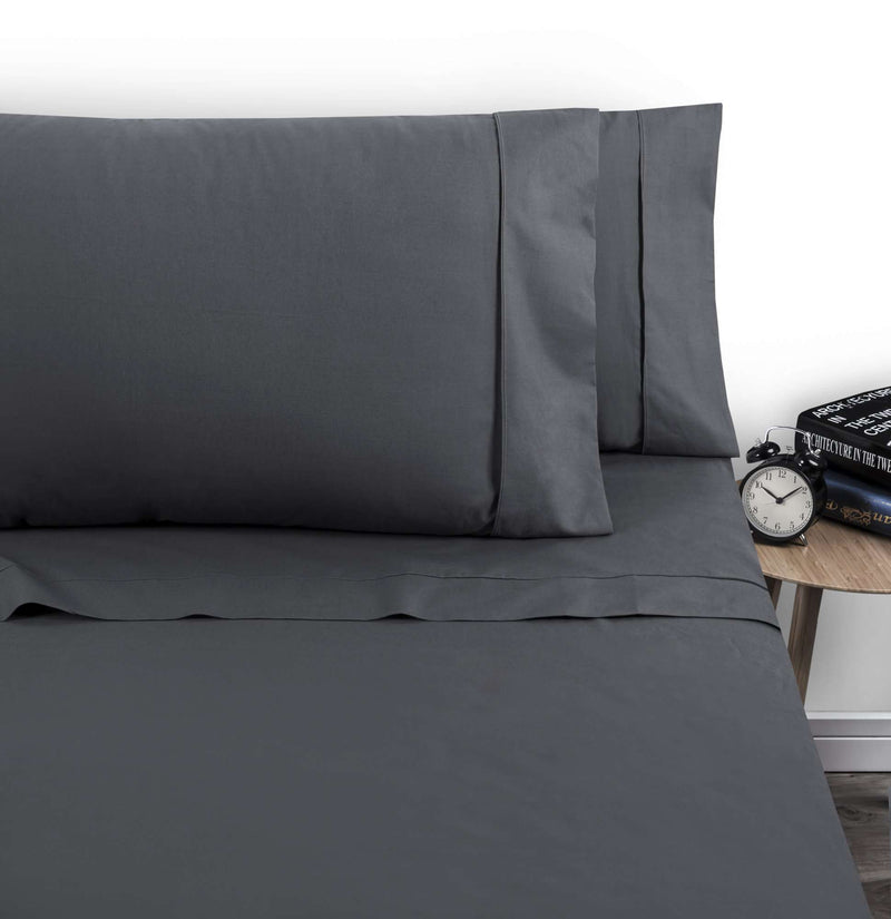 Accessorize 1000TC Cotton Rich Sheet Set - Charcoal
