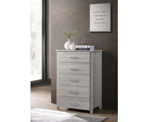 Melbournians Furniture Six Chest Of Drawers Tallboy - White Oak