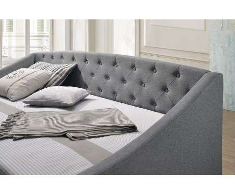 Artiss Daybed + Trundle Fabric Upholstery - Grey