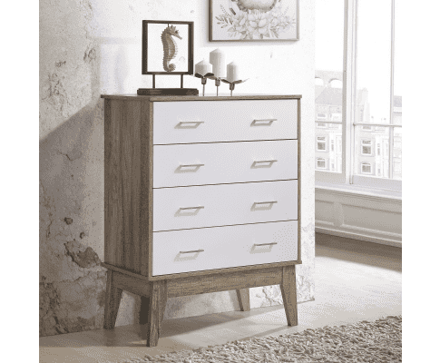 Tallboy Designer Chest of Drawer - Oak