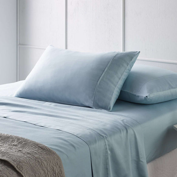 Vintage Design Blue Bamboo Cotton Bed Sheet Set