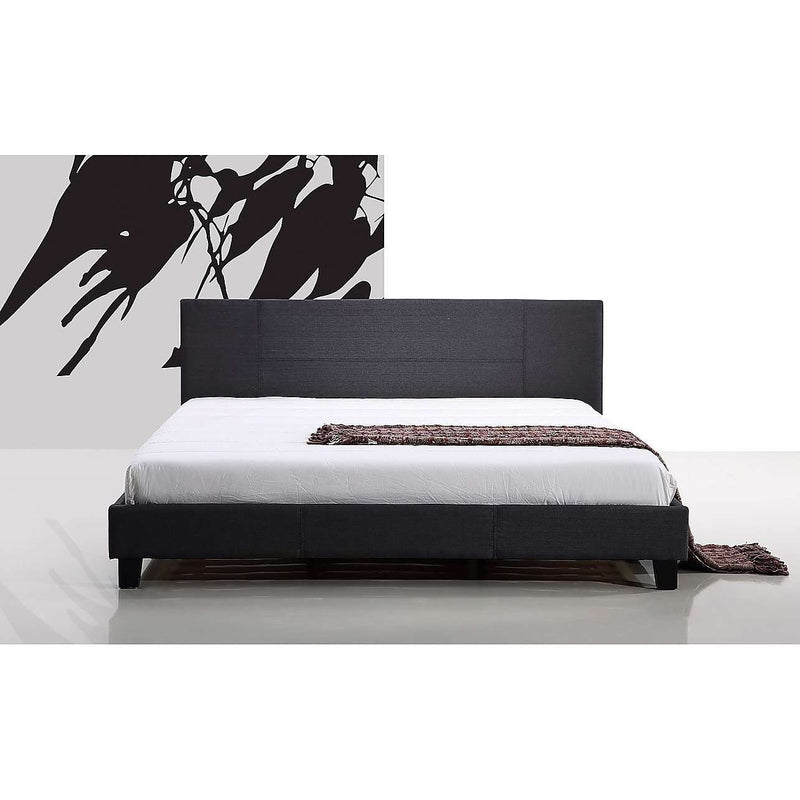 Modern Fabric Linen Bed Frame - 2 Colours-Bedframe-Palermo-Double-Grey-Big Bedding Australia