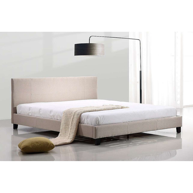 Modern Fabric Linen Bed Frame - 2 Colours-Bedframe-Palermo-Big Bedding Australia