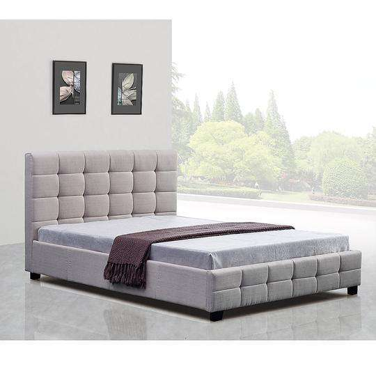 Linen Fabric Deluxe Bed Frame - 2 Colours-Bedframe-Palermo-Big Bedding Australia