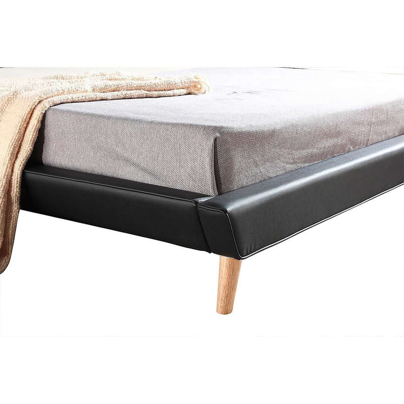 Button Tuft PU Leather Fabric Luxury Bed Frame - 2 Colours-Bedframe-Palermo-Big Bedding Australia