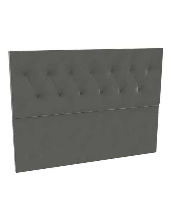 SleepMaker Velvet Base with Foot End Drawers + Bracket & 120CM Headboard - Flint Colour