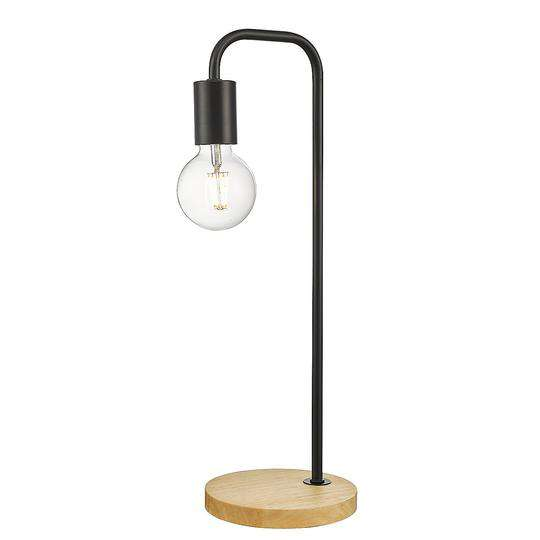 Industrial Timber Bedside Lamp