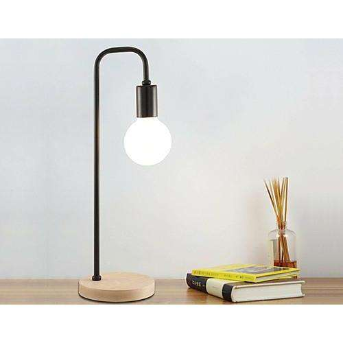 Industrial Timber Bedside Lamp-Lamp-Palermo-Big Bedding Australia