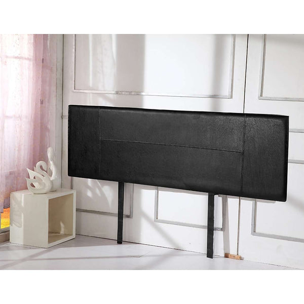 Modern PU Leather Bedhead - 3 Colours-Bedhead-Palermo-Single-Black-Big Bedding Australia