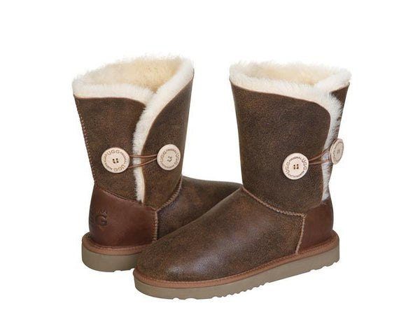 Australian UGG NAPPA Short Button UGG Boots - 3 Colours