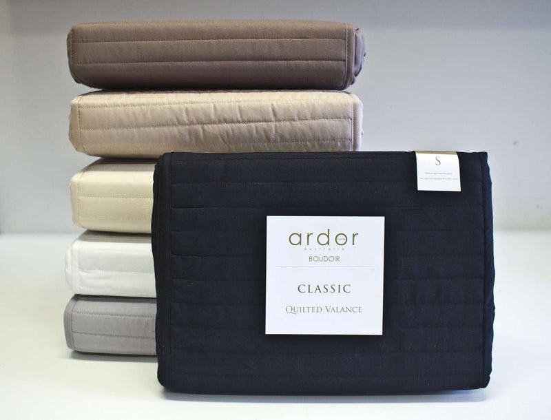 Ardor Boudoir Quilted Valance - Navy