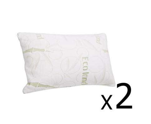 Giselle Bedding 2 x Bamboo Pillow with Memory Foam