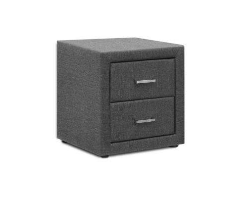 Artiss Fabric Bedside Table