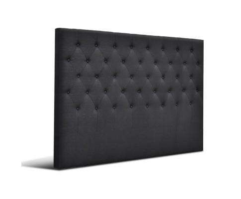 Artiss Upholstered Fabric Headboard - Charcoal