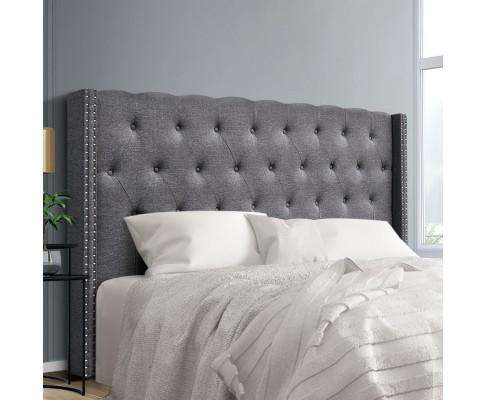 Artiss LUCA Bed Head - Dark Grey