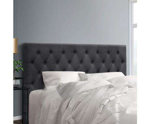 Bed Head Headboard Bedhead Fabric Frame Base CAPPI Charcoal