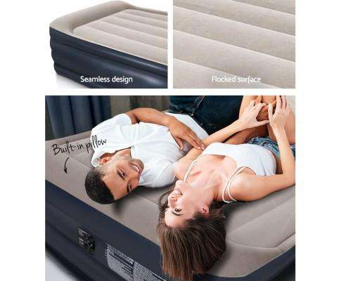Air Bed Inflatable Mattress Sleeping Mat Battery Built-in Pump