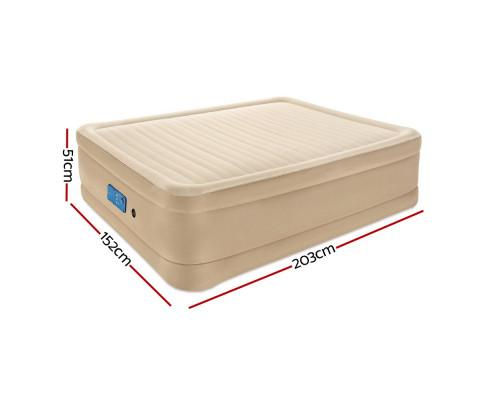 Bestway Air Qurrn Bed Inflatable Mattress Fortech Built-in AC Pump Home Sleeping