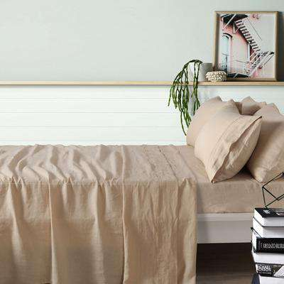 Vintage Design Birch French Linen Sheet Set