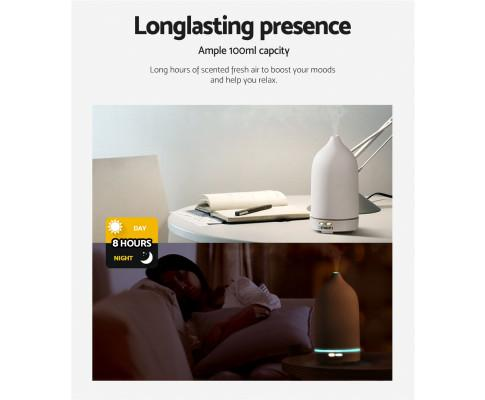 Ceramics Aroma Diffuser Aromatherapy Essential Oil Air Humidifier Ultrasonic Cool Mist White