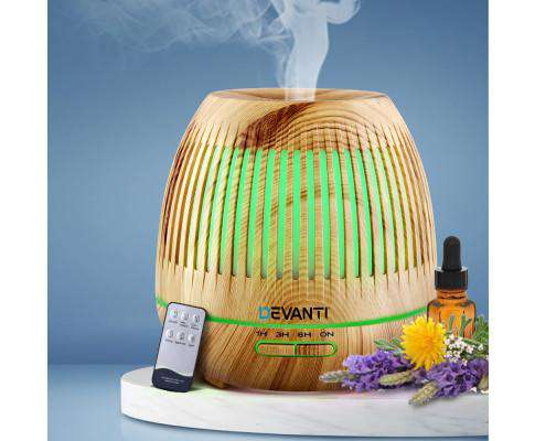 Aromatherapy Diffuser Aroma Essential Oils Air Humidifier LED Light 400ml