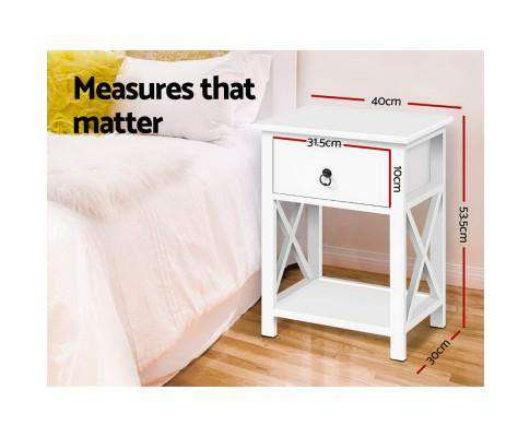 Artiss Bedside Tables- Twin Pack