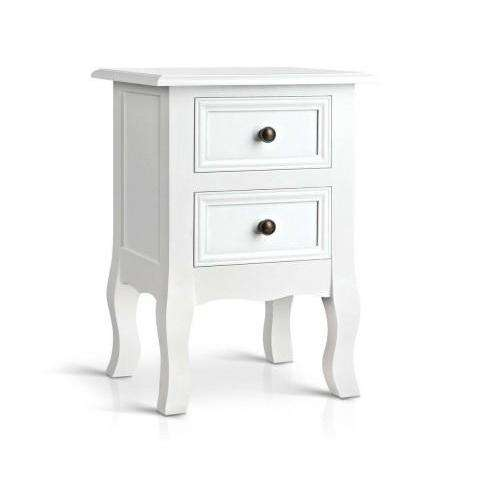 Artiss Classic French Provincial Bedside Table-Artiss-Big Bedding Australia