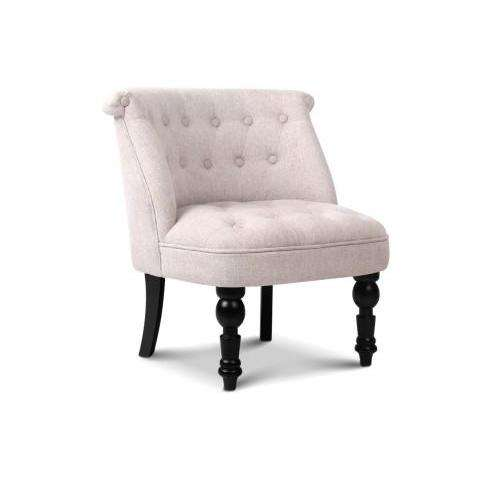 French Lorraine Accent Chair - 3 Colours-Accent Chair-Artiss-Beige-Big Bedding Australia