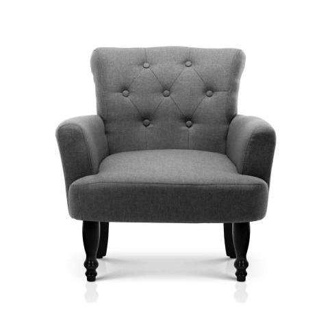 French Lorraine Winged Accent Chair - 3 Colours-Accent Chair-Artiss-Grey-Big Bedding Australia