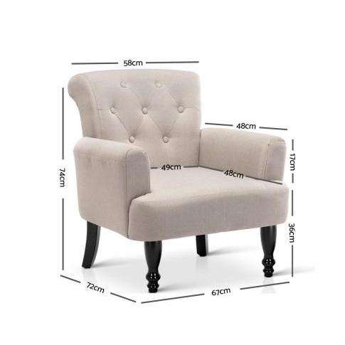 French Lorraine Winged Accent Chair - 3 Colours-Accent Chair-Artiss-Big Bedding Australia