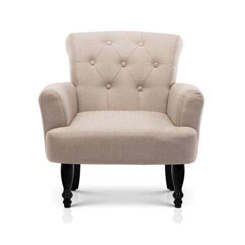 French Lorraine Winged Accent Chair - 3 Colours-Accent Chair-Artiss-Taupe-Big Bedding Australia