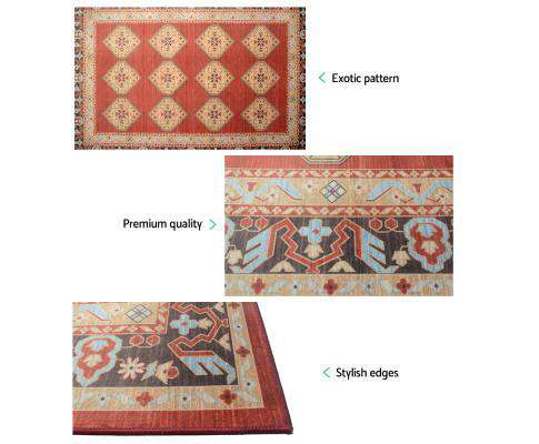 Artiss Floor Rugs Carpet 200 x 290 Living Room Mat Rugs Bedroom Large Soft Red