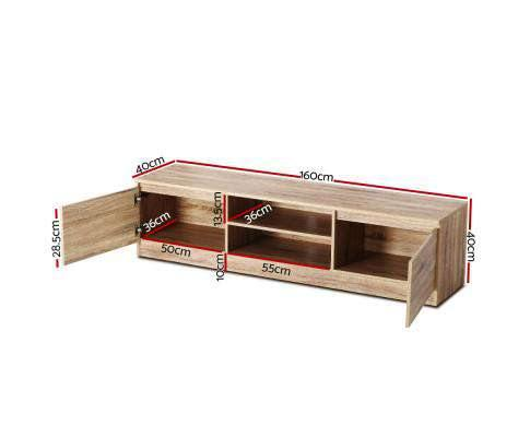 Artiss 160CM TV Stand Entertainment Unit Lowline Storage Cabinet Wooden