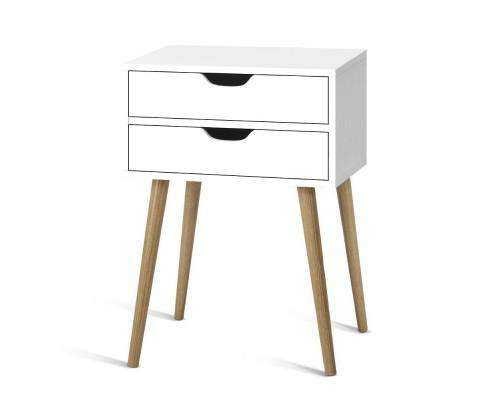 Artiss Classic Wood Bedside Table
