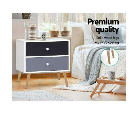 Artiss Classic Multi Bedside Table