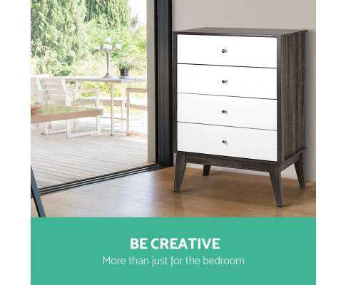 Artiss Four Chest of Drawers
