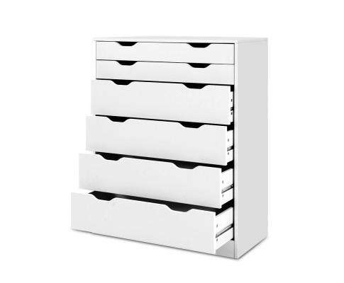 Artiss Six Chest of Drawers Neat White
