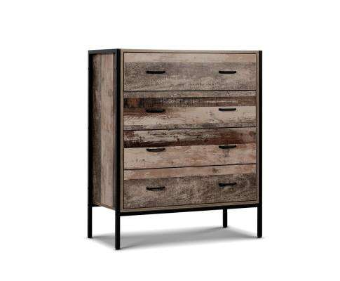 Artiss Chest of Drawers - Industrial Rustic