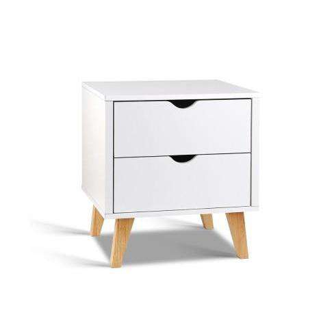 Artiss Modern Wooden Bedside Table-Artiss-Big Bedding Australia