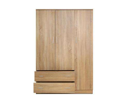 Artiss Wardrobe Bedroom Clothes Closet 3 Doors Storage Cabinet Organiser Armoire