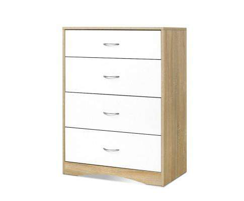 Artiss Chest of Drawers - White Wood