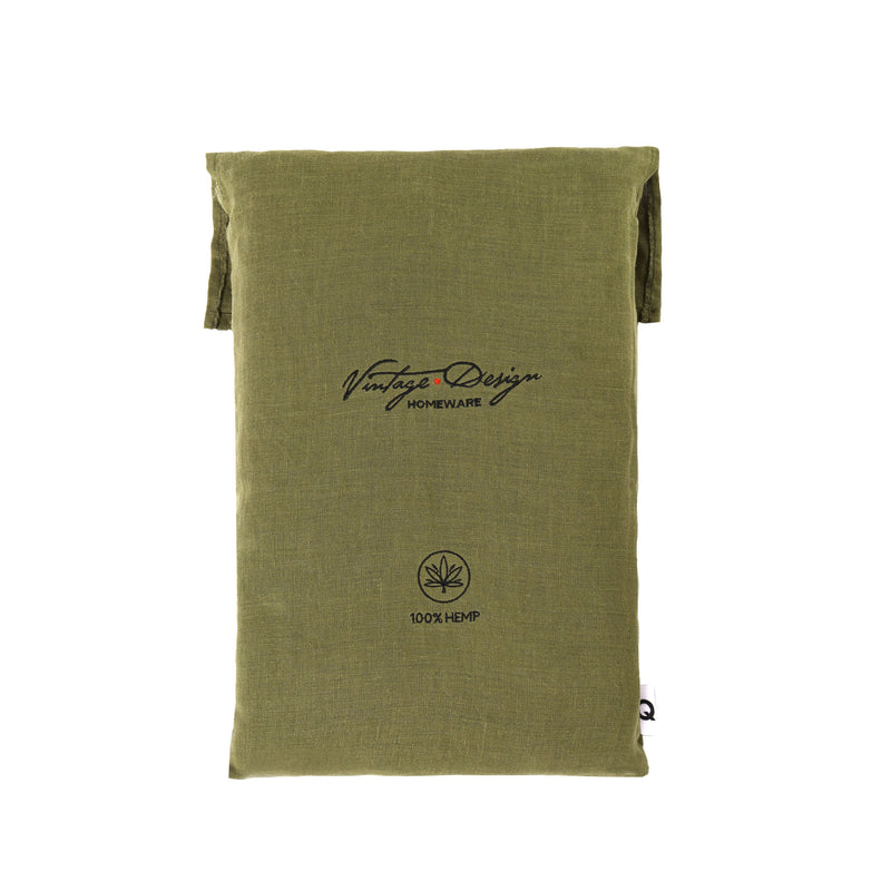 Vintage Design Fern Hemp Sheet Set
