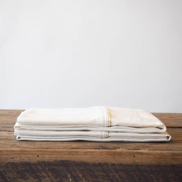 SET OF 2 HEMP LINEN OXFORD PILLOWCASES - 2 Colours