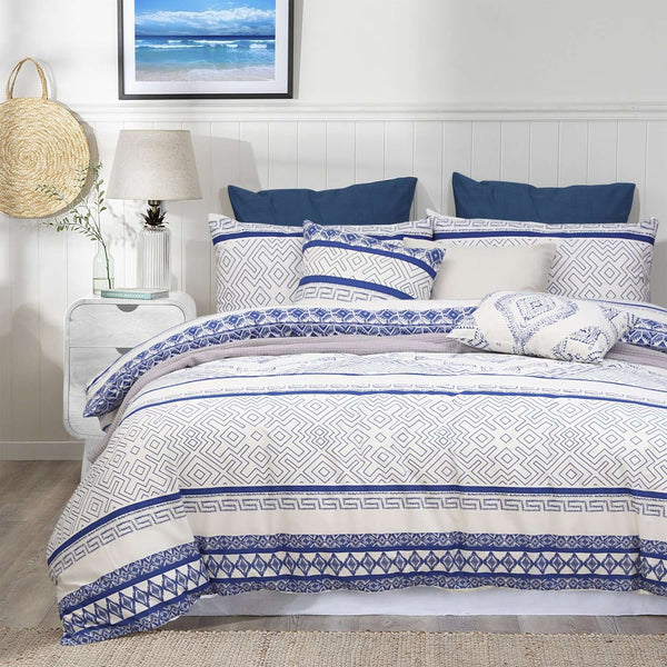 Amsons Hampton Quilt Duvet Doona Cover – Blue