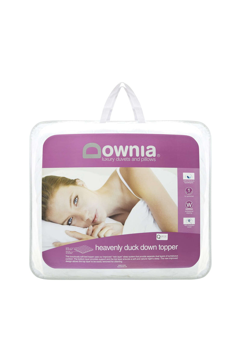 Downia Heavenly Twin Layer Duck Down Mattress Topper